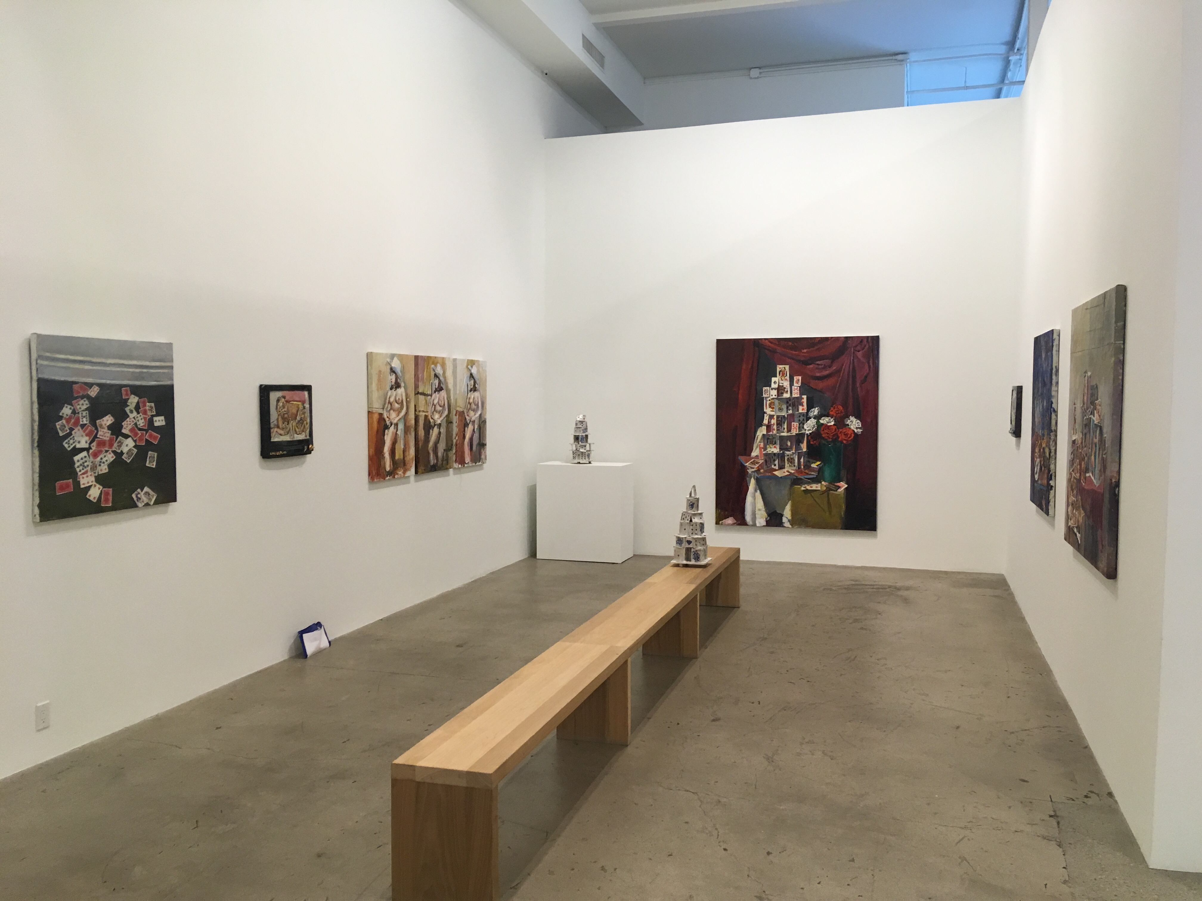 Jesse Edwards exhibition of his art at Diane Rosenstein gallery, contemporary art in Los Angeles